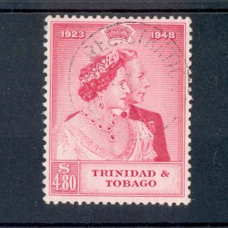 Trinidad & Tobago Kgvi 1948 Rsw Royal Silver Wedding £1 Sg260 photo