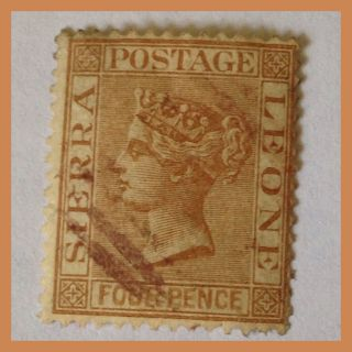 1884 Sierra Leone Qv - 4d Brown Fine Stamp Wmrk Crown As Per Scans photo
