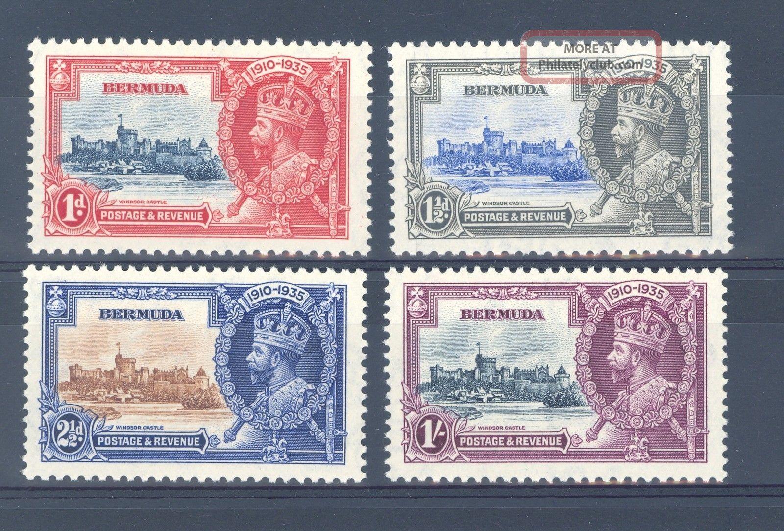 Bermuda Sg 94 - 7 1935 Gv Silver Jubilee White Gum L/m/m British Colonies & Territories photo