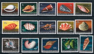 Papua Guinea 1968/9 Sea Shells Sg 137/51 photo