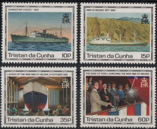 Tristan Da Cunha Sg 500 - 503 1990 Maiden Voyage Of St Helena Ii.  Unmounted photo
