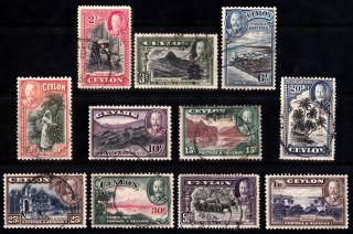Ceylon Kgv 1935 Sg368 To Sg378 photo