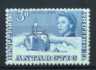British Antarctic Territory 1963 - 9 Qeii.  3d Deep Blue.  Mlh.  Og. photo