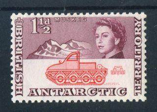 British Antarctic Territory 1963 - 9 Qeii.  1 1/2d Red & Purple.  Mh.  Og. photo