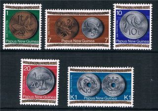 Papua Guinea 1975 Coinage Sg 281/5 photo