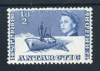 British Antarctic Territory 1963 - 9 Qeii.  1/2d Blue. .  Vlh.  Og. photo