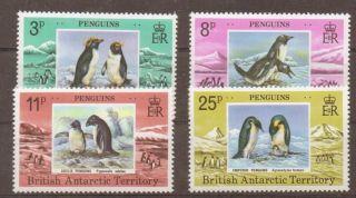 British Antarctic Terr.  Sg89/92 1979 Penguins photo