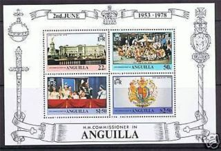 Anguilla 1977 Coronation Miniature Sheet photo