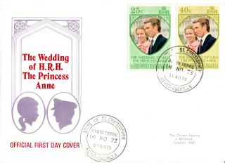 St Christopher Nevis Anguilla 1973 Royal Wedding First Day Cover photo