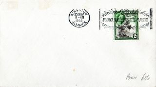 Jamaica 25 November 1953 Royal Visit Plain First Day Cover Shs photo