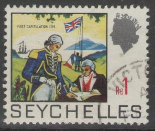 Seychelles Sg274 1969 1r Definitive Fine photo