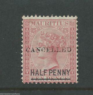 Mauritius - 1872 - Sg79 - Cancelled - Cv £ 35.  00 - Mounted photo