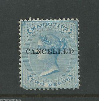 Mauritius - 1863 To 1872 - Sg59 - Cancelled - Cv £ 70.  00 - No Gum photo