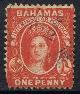 Bahamas Stamp Queen Victoria Sc 11a Brown Lake Perf 12.  5 photo