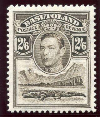 Basutoland 1938 Kgvi 2s6d Sepia Mlh.  Sg 26.  Sc 26. photo