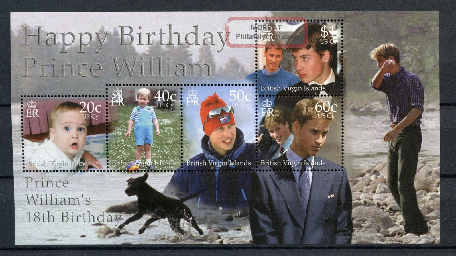 British Virgin Islands 2000 Sg Ms1046 Prince William M/s A59978 British Colonies & Territories photo