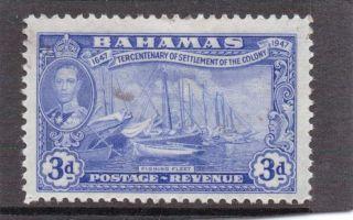 Bahamas G V1 1948 Eleuthera 3d Sg 183 H. photo