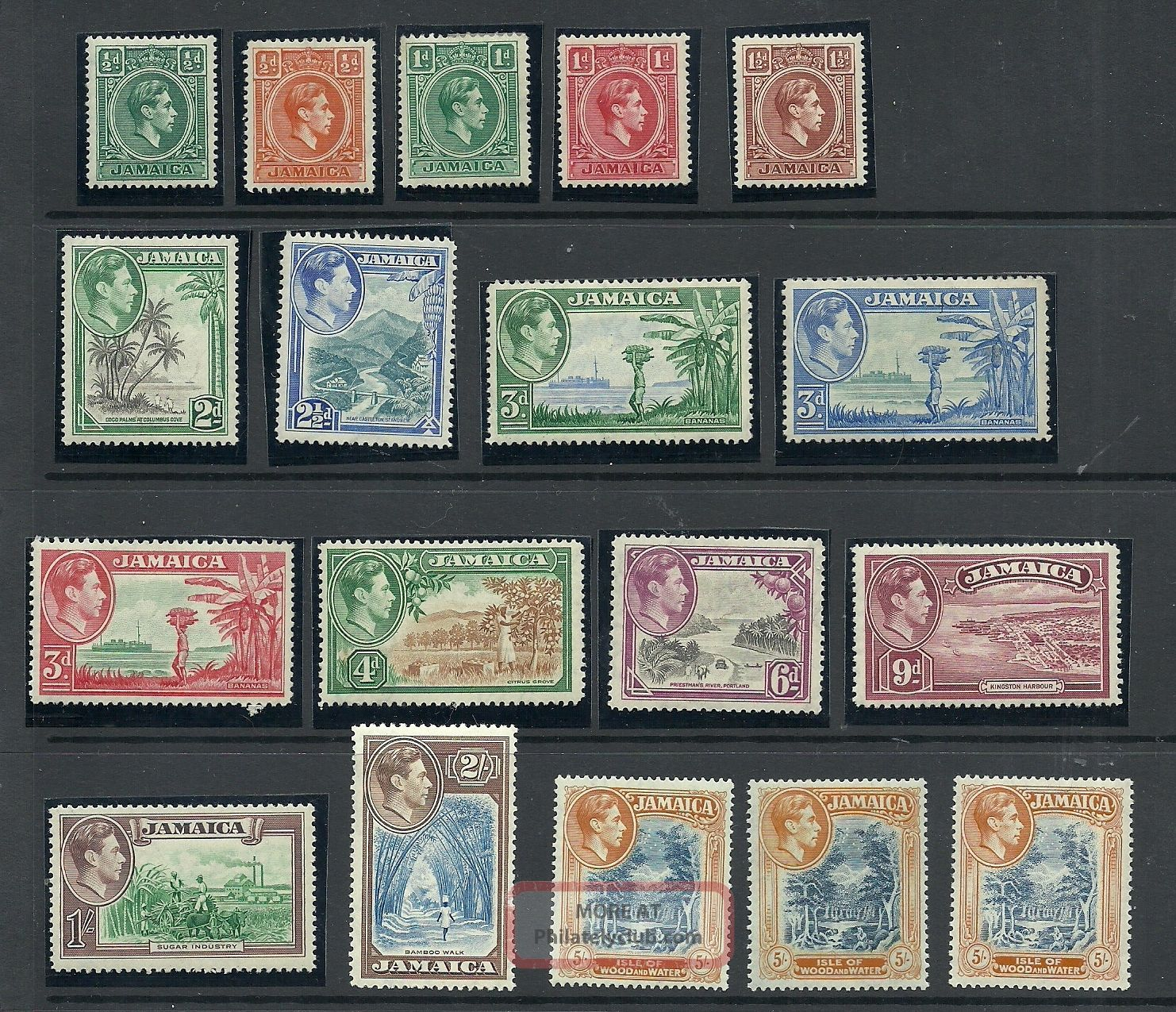 Jamaica Gvi Selection To 5/ - (3 Different) Cat £110+ British Colonies & Territories photo