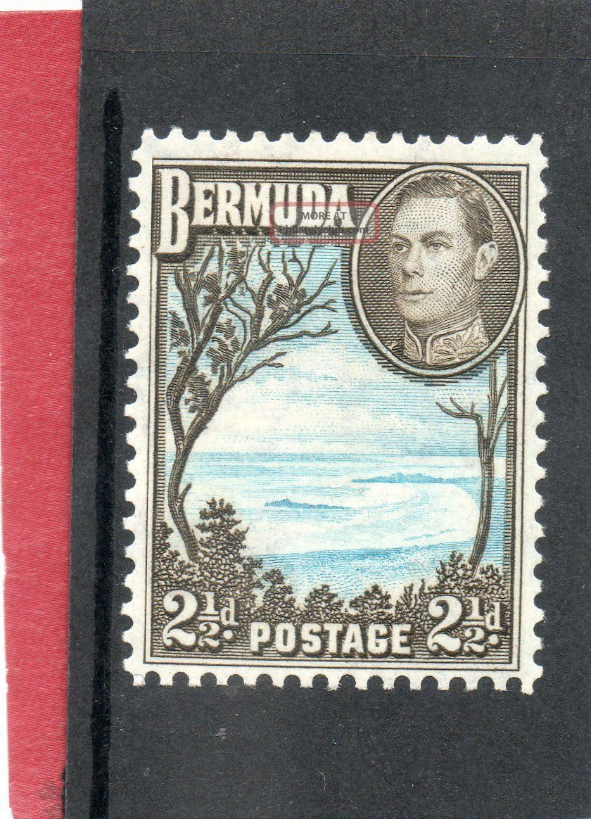 Bermuda G V1 1943 2.  1/2d Pale Blue&sepia - Black Sg 113b H. British Colonies & Territories photo