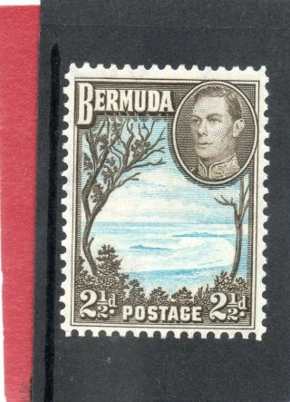 Bermuda G V1 1943 2.  1/2d Pale Blue&sepia - Black Sg 113b H. photo