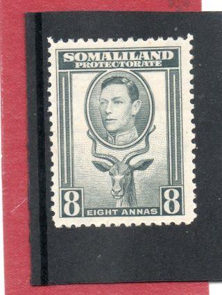 Somaliland G V1 1938 8a Grey Sg 99 H. photo
