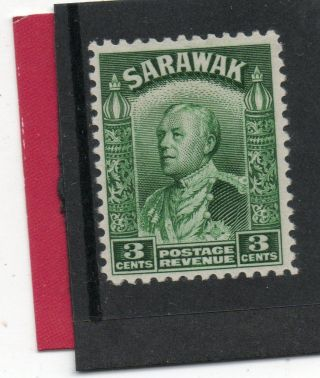 Sarawack Gv1 1941 3c Green Sg 108a H. photo