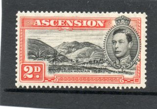 Ascension 1938 2d Black&red - Orange Sg 41 H. photo