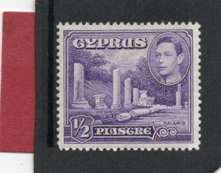 Cyprus G V1 1951 1/2pi Violet Sg 152a H. photo
