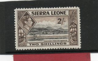 Sierra Leone Gv1 1938 2sh Black&sepia Sg 197 L.  H. . photo