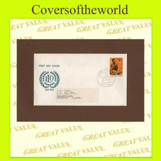 Papua Guinea 1970 I.  L.  O.  Issue First Day Cover,  Typed photo
