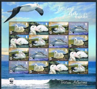 Tristan Da Cunha 2013 Tristan Albatross 16v Sheet photo