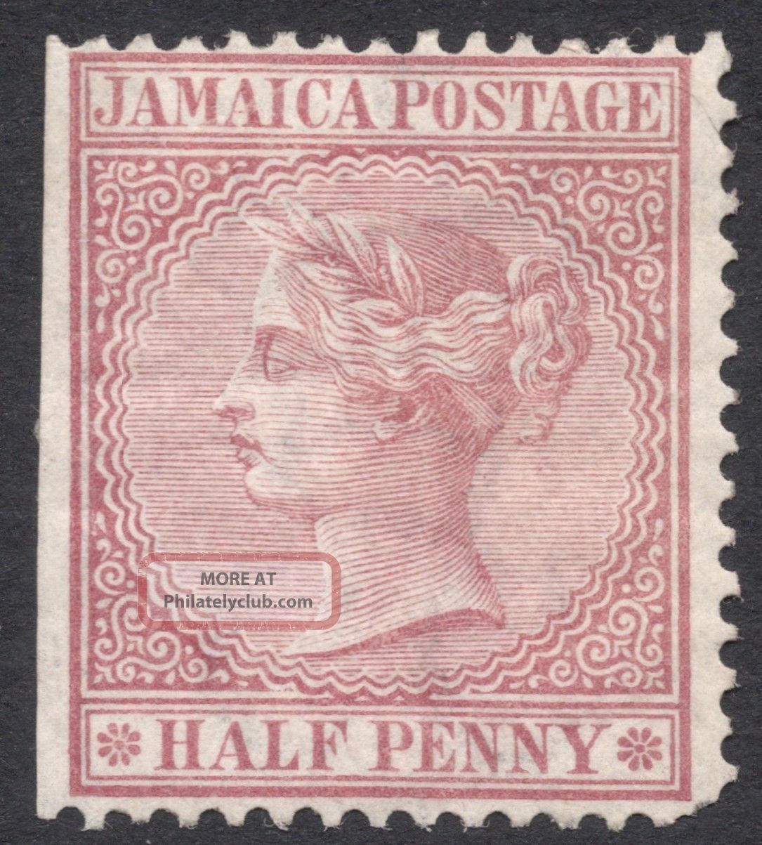Jamaica,  1/2 P.  1872,  Scott 13a,  Mh British Colonies & Territories photo
