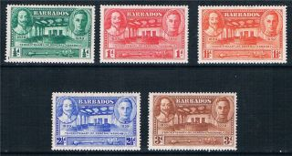 Barbados 1939 Ter.  Of General Assembly Sg 257/61 Mlh photo
