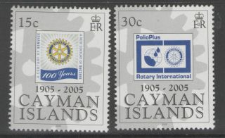 Cayman Islands Sg1065/6 2005 Rotary International photo