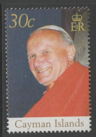 Cayman Islands Sg1073 2005 Pope John Paul Ii photo