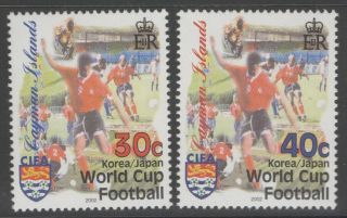 Cayman Islands Sg987/8 2002 Football World Cup photo