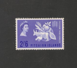 Pitcairn Islands 35 (sg 32) Vf Mlh - 1963 2sh6p Freedom From Hunger Scv $20.  00 photo