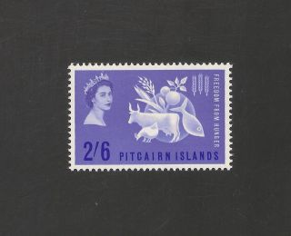 Pitcairn Islands 35 (sg 32) Vf - 1963 2sh6p Freedom From Hunger Scv $20.  00 photo