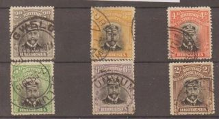 Rhodesia Sg209/14 1913 Admiral Die I P14 (ex 8d) photo
