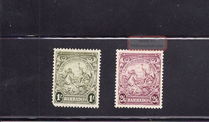 Barbados 1938 Colony Seal Scott 200a And 201 British Colonies & Territories photo
