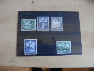 1938 George Vi British Guiana Sg308a/9/10/11/12a U.  M.  M photo