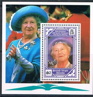 B.  V.  I.  1990 Queen Mother 90th Birthday Ms750 photo