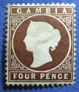 1886 Gambia 4d Scott 17 S.  G.  31 Cs07877 photo