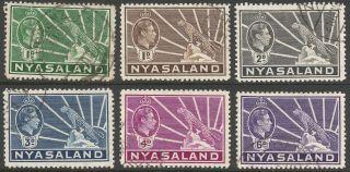Nyasaland.  1938 - 44 Kgvi.  6 Values To 6d.  B6104 photo