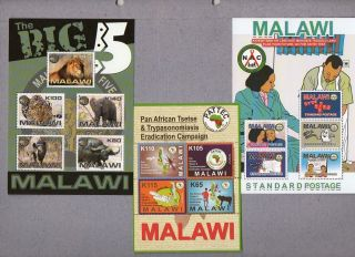 Official Malawi Issue: Malawi Sheet X 5 photo