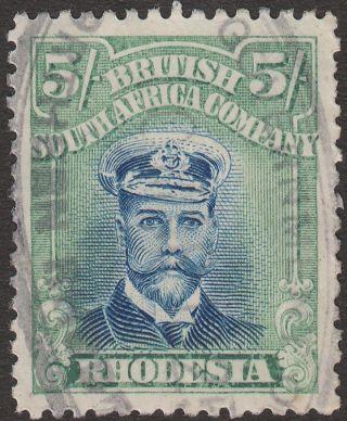 Rhodesia 1913 - 23 Kgv Admiral 5sh Die Iiib P14 Fiscally photo