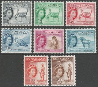 Somaliland Protectorate.  1953 - 58 Qeii.  8 Mh Values To 1/ -.  B4302 photo