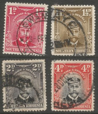 Southern Rhodesia.  1924 - 29 Kgv.  4 Values To 4d.  B5305 photo