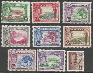 Dominica.  1938 - 47 Kgvi.  9 Mh Values To 6d.  B5109 photo