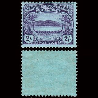 British Solomom Islands 1908 - 11 Small Canoe 2/ - Sg 15 Fresh & Fine Mh Cv £50 photo